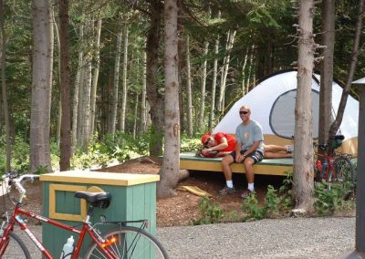 Camping piste cyclable