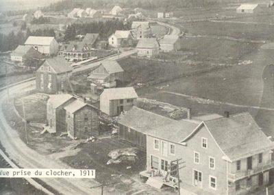 Vue prise du clocher en 1911